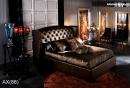 雙人造型床架(皮) 039