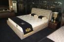 雙人造型床架(皮) 042