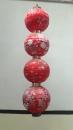 四連繡花燈籠
