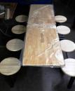 鋼管木質長桌圓凳組