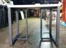 鋼管木質方桌1
