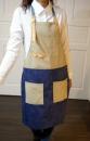 文創拼色圍裙106002