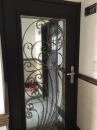 孔雀開屏玄関烤漆通風門中門