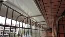 客廳後陽台防護鐵窗含雨遮