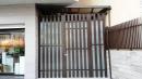 藝術造型玻璃格柵門