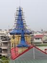 幼稚園3座尖塔除鏽防鏽油漆完工