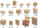 X160 牛皮無印紙盒1到16號