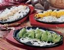 串燒翡翠雞塊香辛燒烤雞塊腰果汁烤魚塊