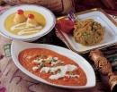 香汁奶油燴蔬菜混村起士球香科烘茄子顏蔥
