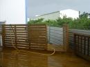 木隔離柵欄