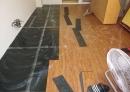 磁磚換塑膠地磚施工前-
