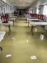 地板清洗後