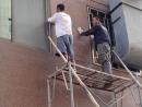 02施工中(鋪設大理石磁磚)