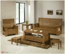 原木客廳桌椅組