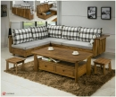 實木客廳桌椅組