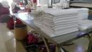毛巾經毛巾折疊機之堆疊後