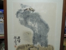 錢行健,鷹(遠矚), 設色水墨畫作品