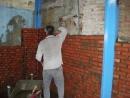 中古二手屋翻新-紅磚頭牆壁砌磚中