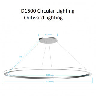D1500 circular lighting - outward