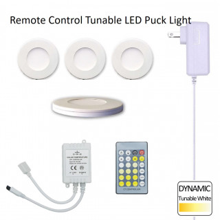 Remote Control Tunable LED Puck Lite