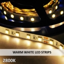 WARM WHITE LED STRIPS-2800K