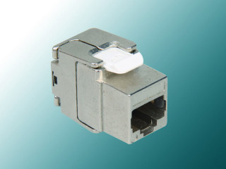 Cat 5E 180° Fully Shielded Mini Die-Casting Toolless Keystone Jack