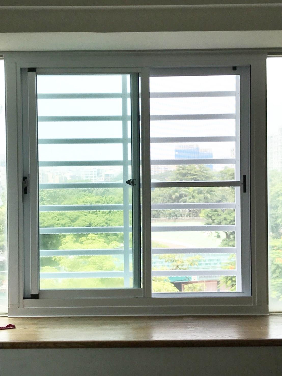 二拉窗+防盜管窗