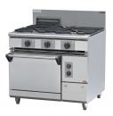 JYTDF-2175B 二主一副一烤箱西餐爐
