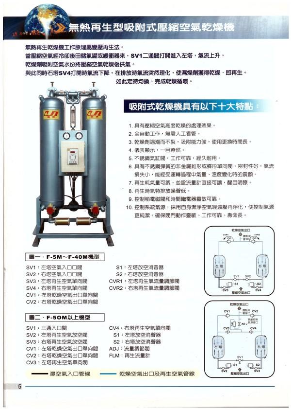 無熱再生型吸附式壓縮空氣乾燥機