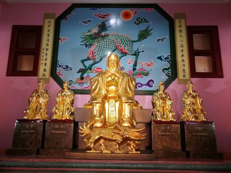 四配鎏金聖像