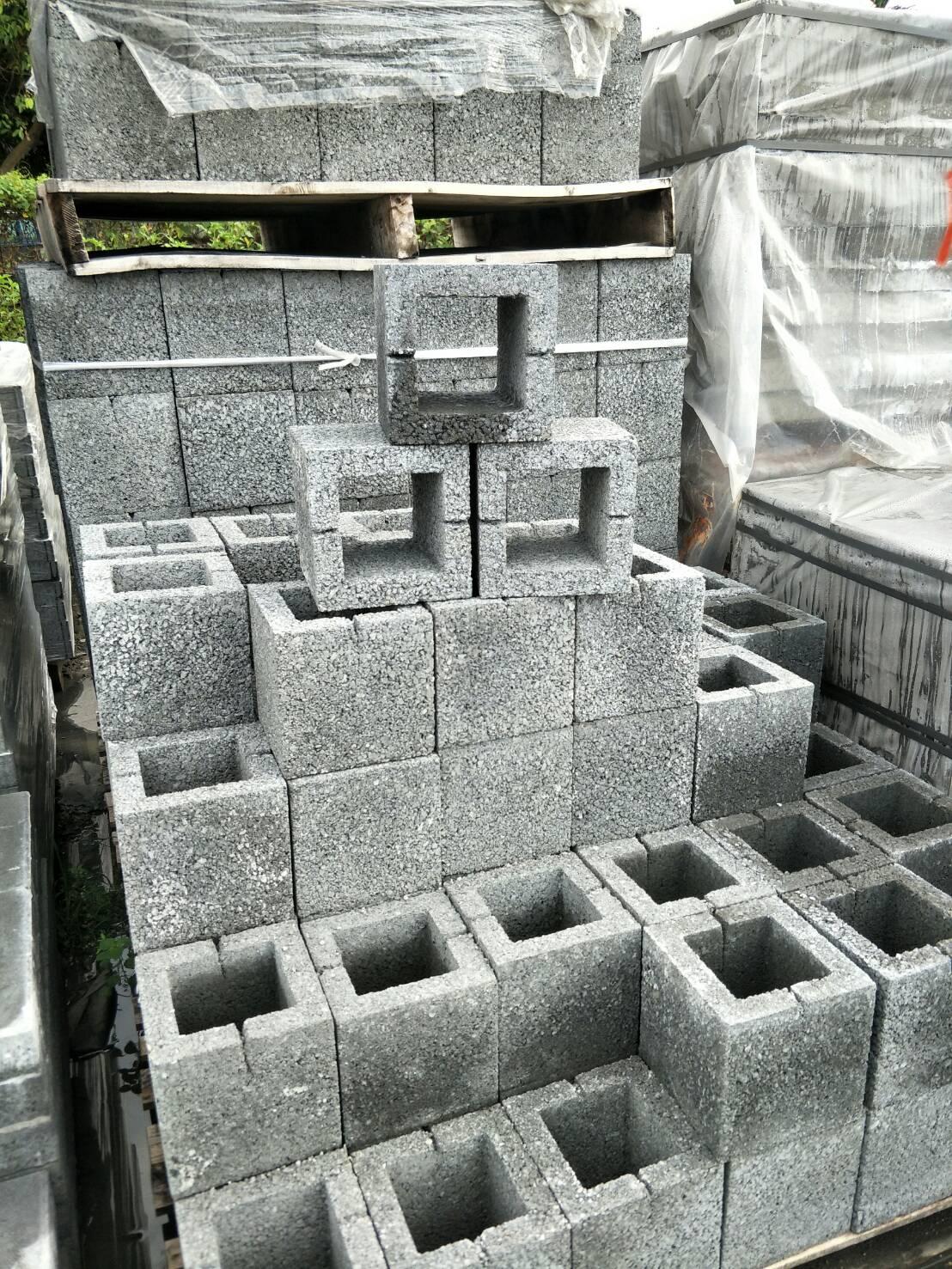 水泥製單孔空心磚(19x19x19)
