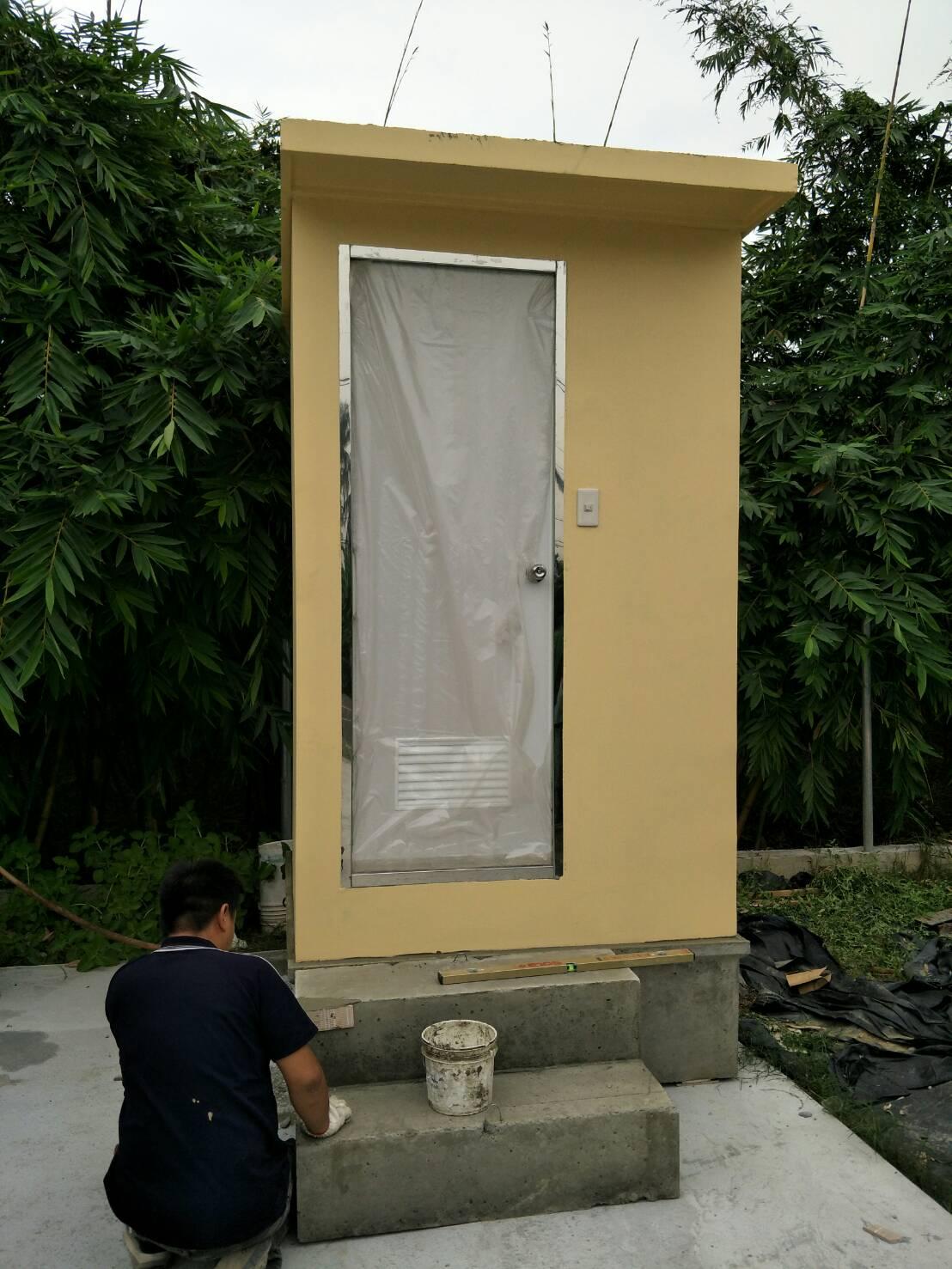 水泥製流動廁所外觀照