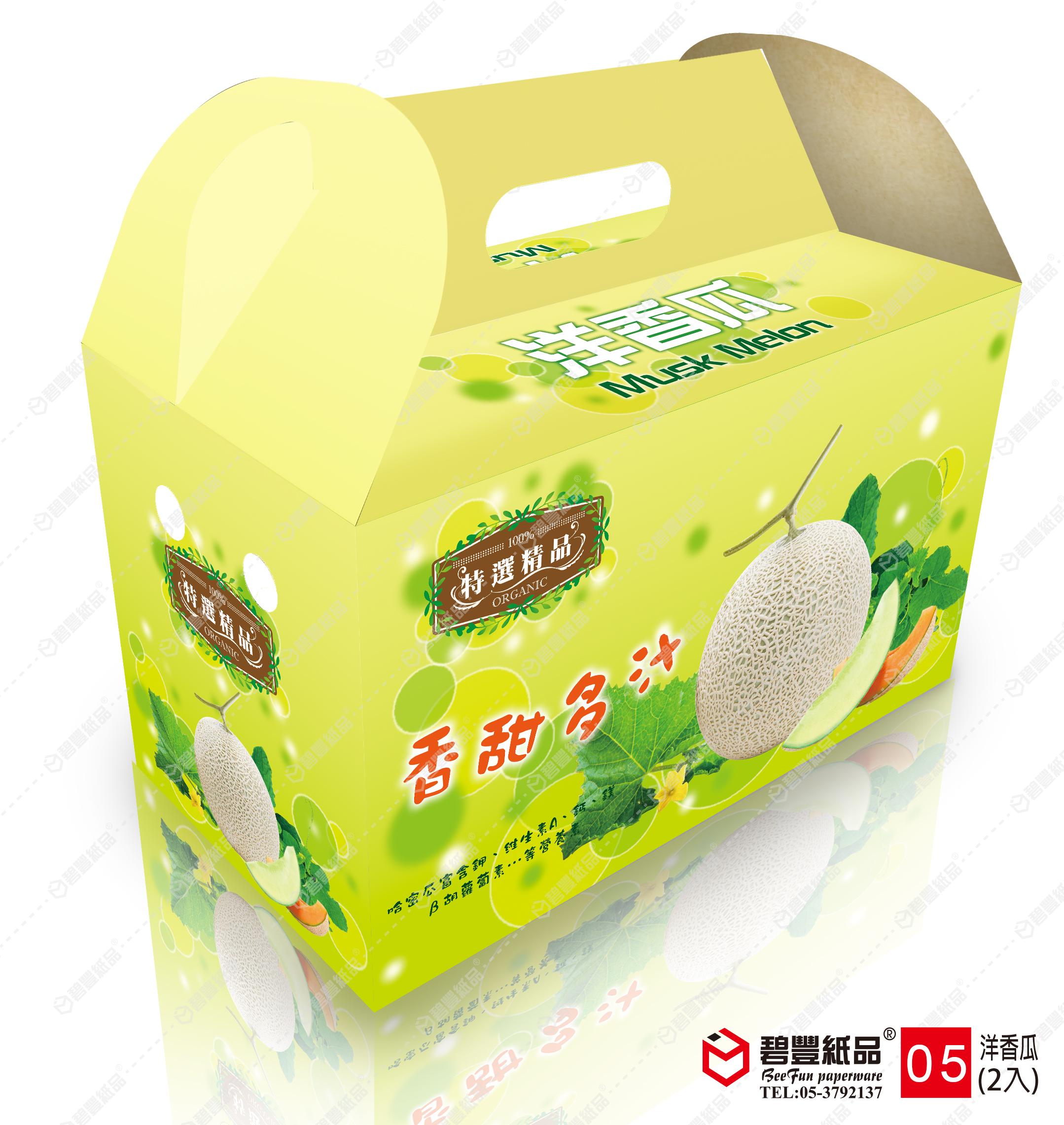 碧豐-洋香瓜二入手提式禮盒-5號