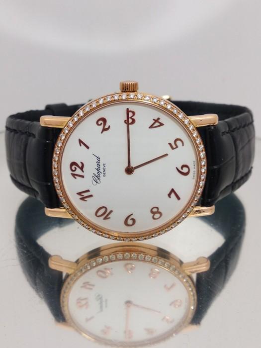 蕭邦錶 CHAPORD 18K鑽錶 盒單完整 品相如新行走正常