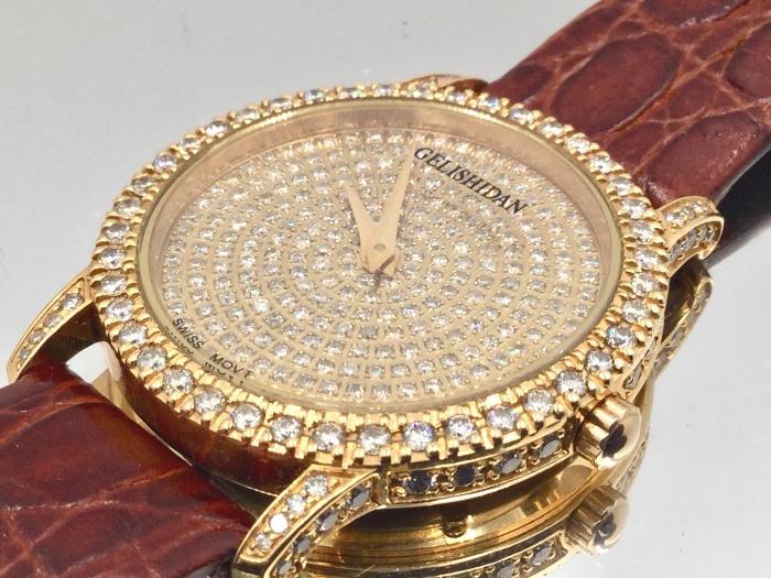18K 金錶 鑽錶 GELISHIDAN 格黎斯丹 滿天星 原鑲鑽 合計約五克拉 共計352顆 鑽石