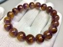 天然紫鈦晶手鍊 10.5mm 30.5克 19P 稀少的紫鈦晶
