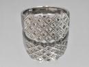 造型鑽戒 線戒 鑽石27P 單顆約兩分 合計54分 750白K金戒台 重4.50公克 火光強 閃閃動人 $8000