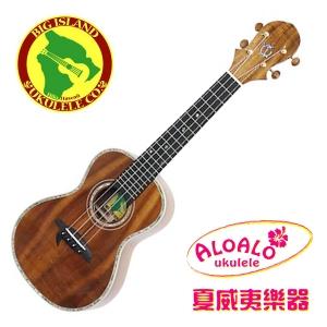 夏威夷品牌Big Island Ukulele夏威夷相思木全單板烏克麗麗 KX-CTC