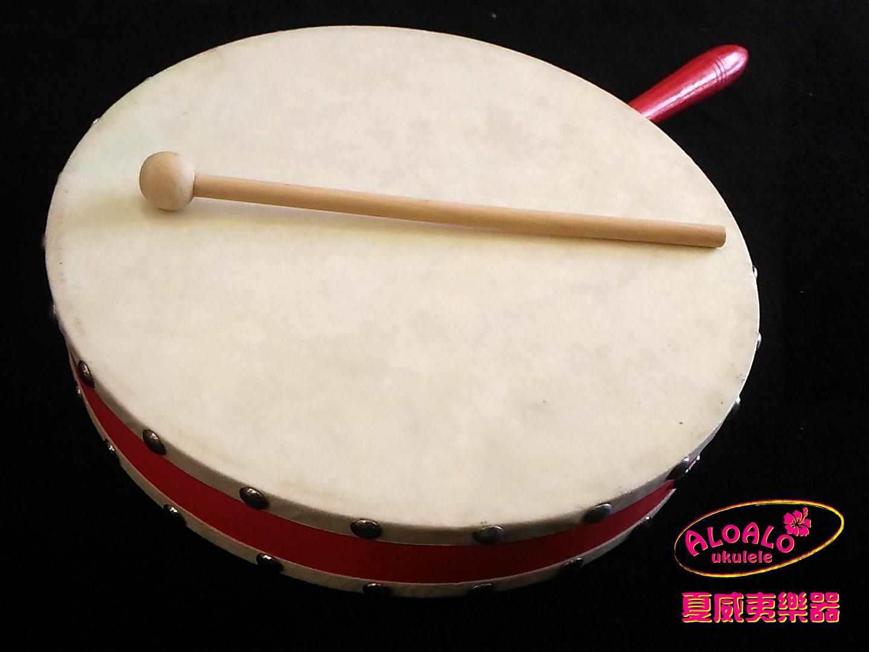 十吋羊皮木框手鼓 附鼓槌