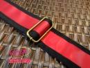 寬版「亮紅色」皮質背帶(烏克麗麗、吉他通用)