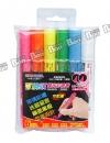 成功-1240-6 可換頭螢光彩繪筆(6色)