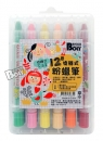 BL-12色不沾手旋轉式粉蠟筆