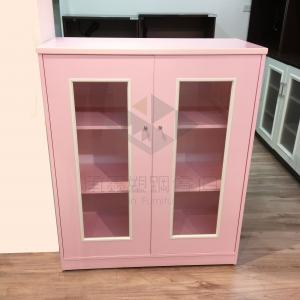 (免運費)粉紅塑鋼鞋櫃~少女必買