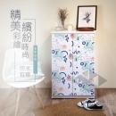 高清彩繪二門鞋櫃-CA01