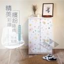 高清彩繪二門鞋櫃-CA02