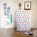 高清彩繪二門鞋櫃-CA11
