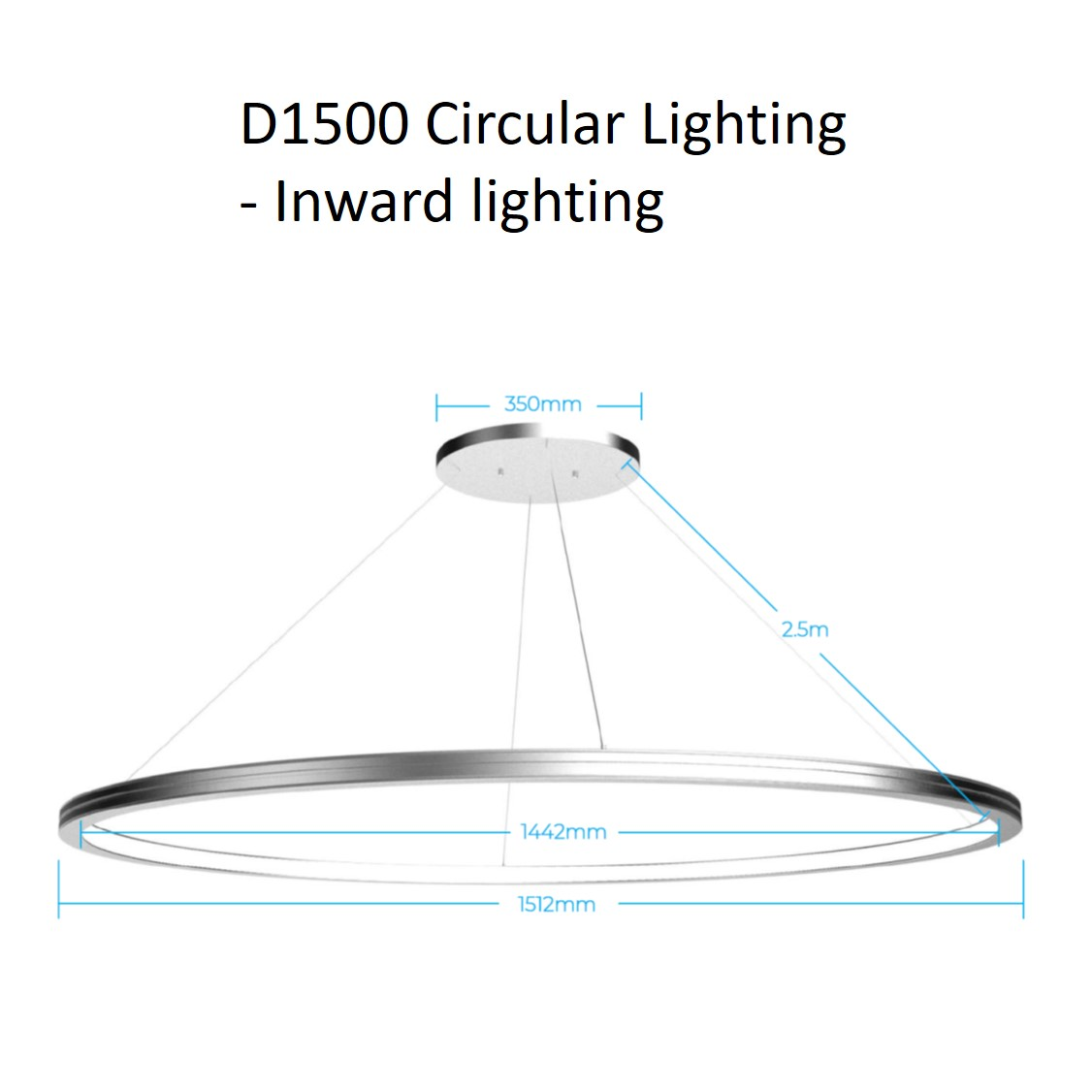 D1500 circular lighting - inward
