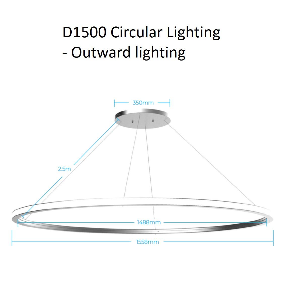 D1500 circular lighting - outward