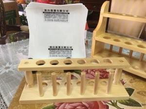 6孔木製試管架