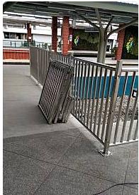 后里東火車站新建欄杆